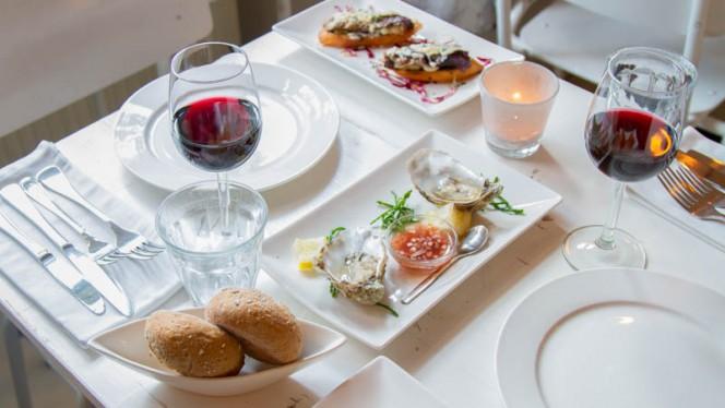 Detail van de tafel - Restaurant Freud, Amsterdam