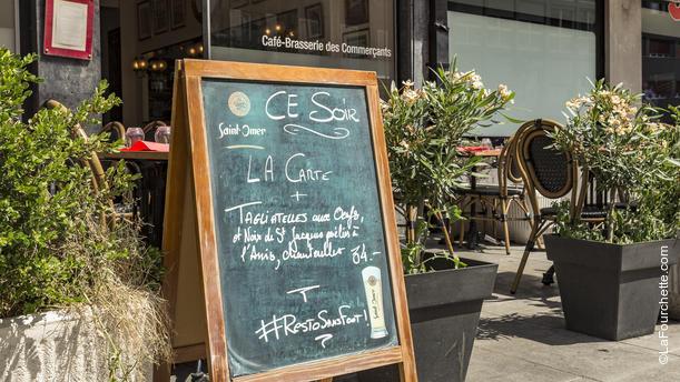 Café - Brasserie des Commerçants, Bistrot niçois Façade