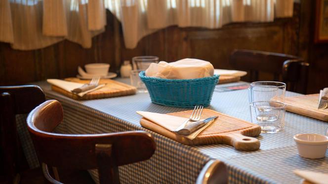 Detalle mesa - El Viejo Almacén de Buenos Aires, Madrid