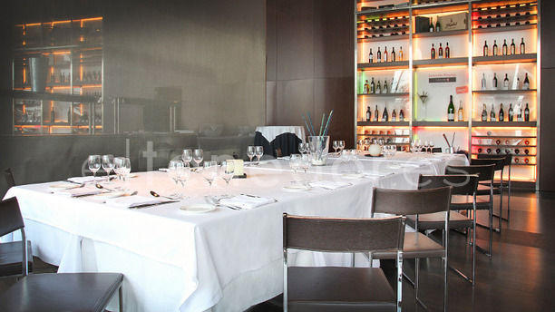 Narandam - Hotel Fira Congress mesa montada para grupo