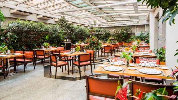 Restaurant jard n metropolitano vp hoteles madrid for Restaurant jardin 92