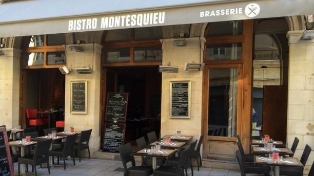 Bistro Montesquieu Vue de la terrasse