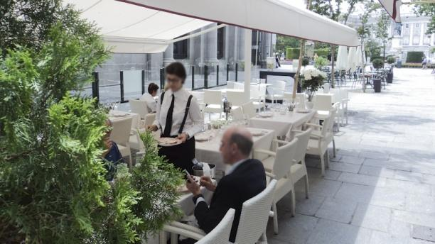 Taberna del Alabardero Madrid Vista terraza