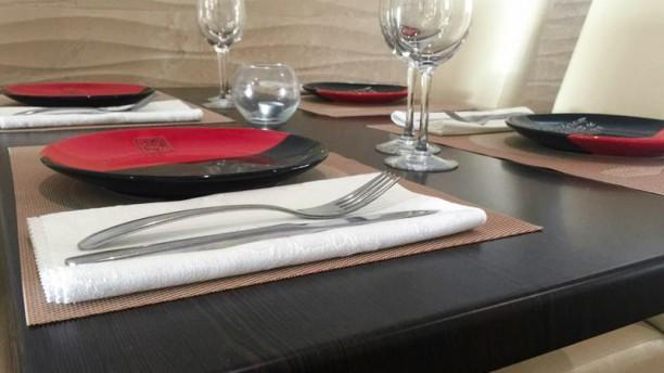 Yutaka Teppanyaki Detalle de la mesa