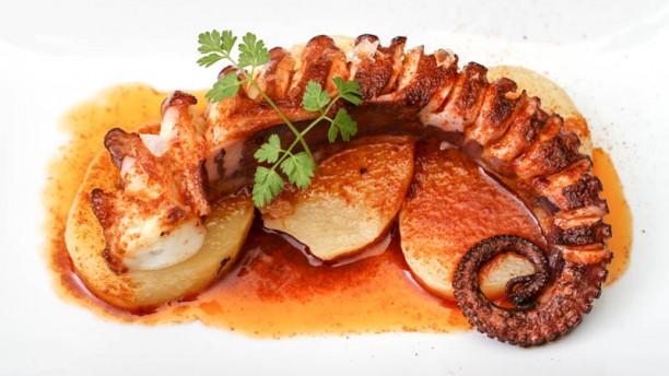 Sevillano Bistrô Polvo grelhado  com azeite e paprica picante e batatas