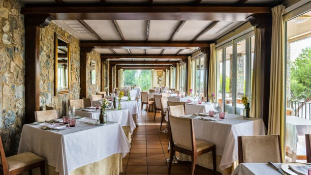 Restaurante Parador de Málaga Gibralfaro Vista de la sala