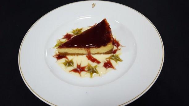 Restaurante Parador de Ceuta Tarta de queso, gelatina de fresas y galleta (Apto para Celiaco)