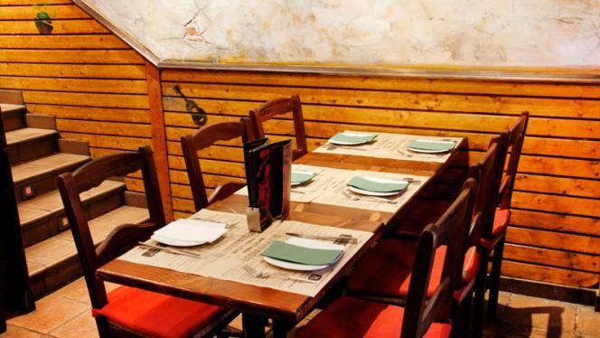 Detalle mesa - La Venganza de Malinche - Duque de Osuna, Madrid