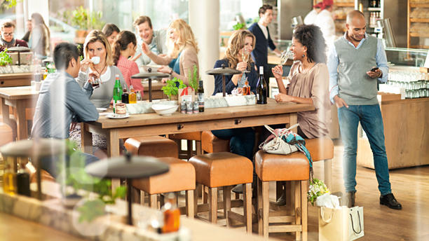 Vapiano Amsterdam (Oosterdokskade) Restaurantzaal