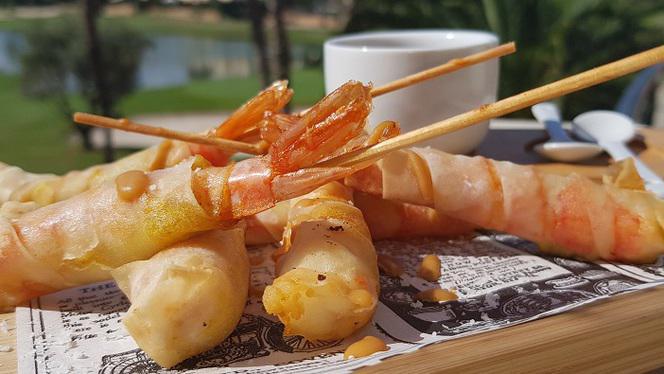 Langostinos crujientes - El Olivo - Hotel Alicante Golf, Alicante