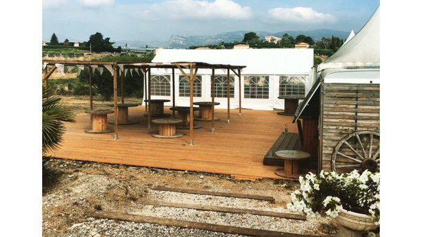 La Ferme de Nice terrasse