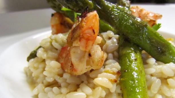 Hôtel Restaurant l'Hotan Risotto crémeux aux crevettes