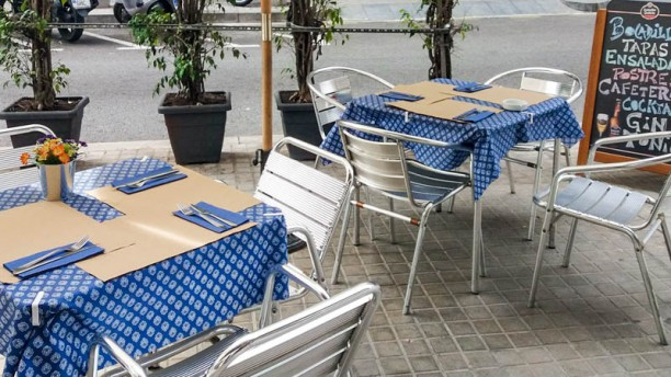 El Gran Azul terraza