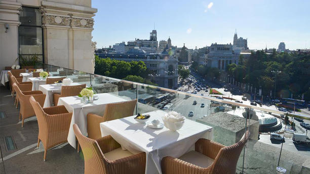 Great View From Terrace On Madrid City Center Palacio De