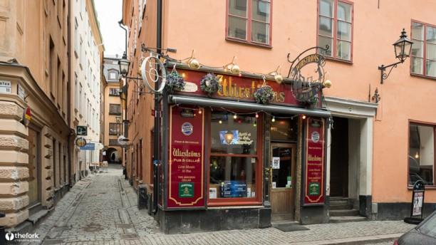 Wirströms pub Restaurangens front