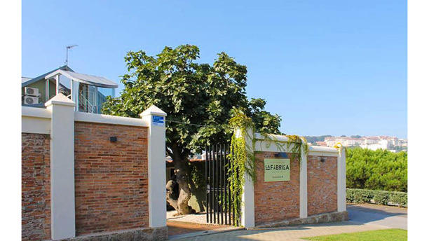 A Fábrica Santa Cristina Vista entrada