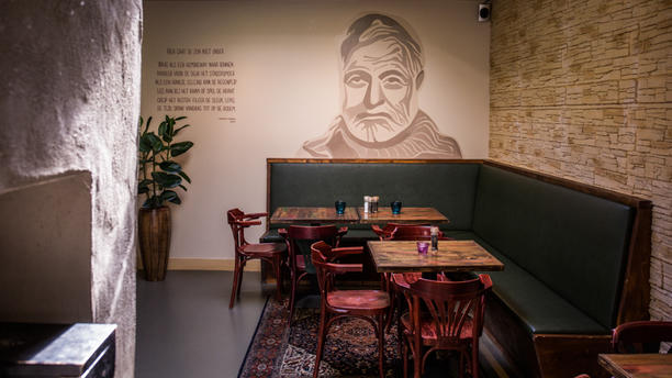 Eetcafé Hemingway Het restaurant