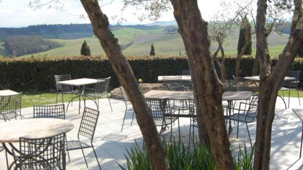 Podere Casato Terrazza panoramica del ristorante