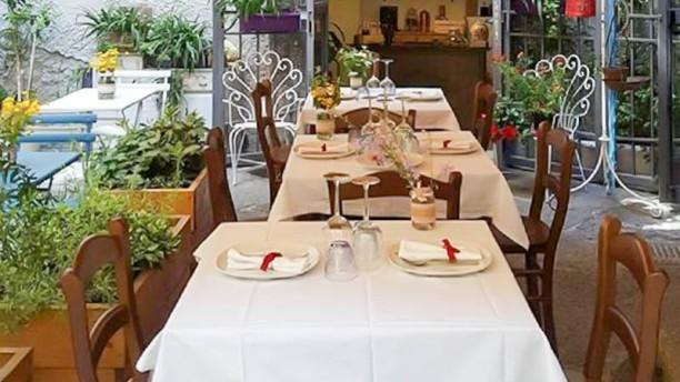 Mariterraneo I tavoli all'ingresso