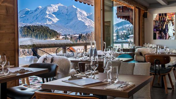 Restaurant Le 1786 Restaurant 1786 vue Mont Blanc