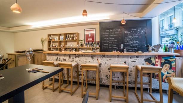 Saké Bar Kanpai Aperçu de l'intérieur