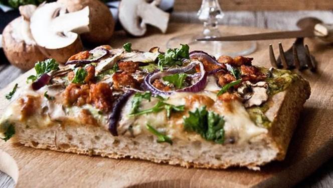 pizza forestière - L'Eden Sans Gluten, Strasbourg